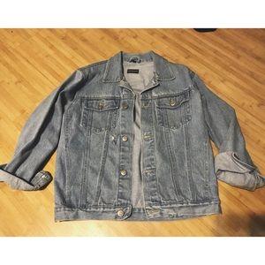 Lightly Distressed Denim Jacket